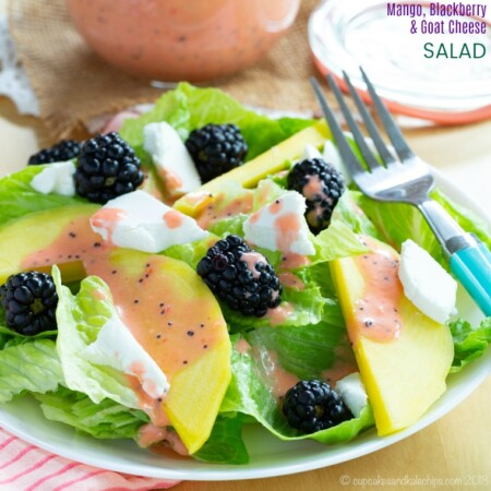 Healthy Summer Salad with Mango, Blackberry, and Goat Cheese