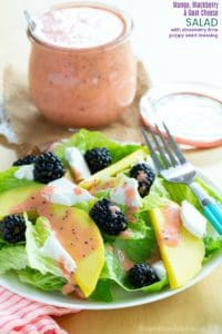 Mango Blackberry Goat Cheese Salad Recipe