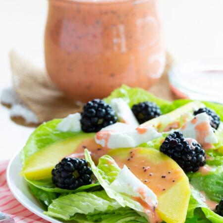Mango Blackberry Goat Cheese Salad Recipe