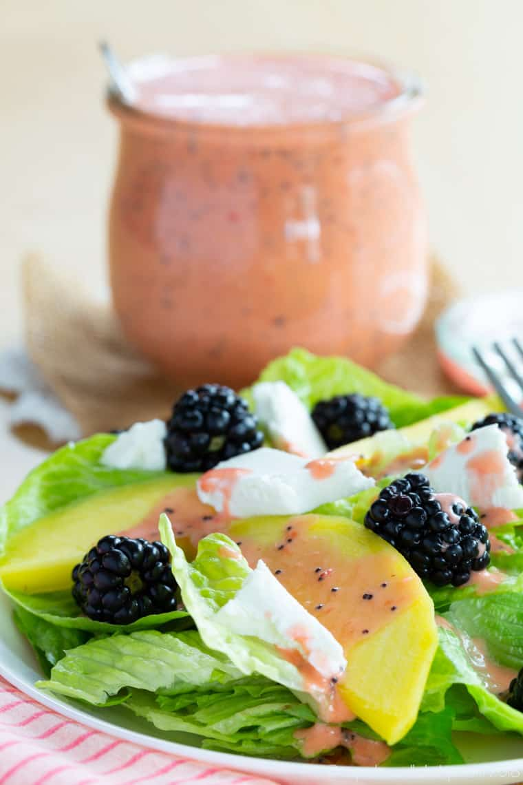 Mango Blackberry Salad with Goat Cheese Recipe