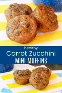Healthy Carrot Zucchini Mini Muffins Pin Collage