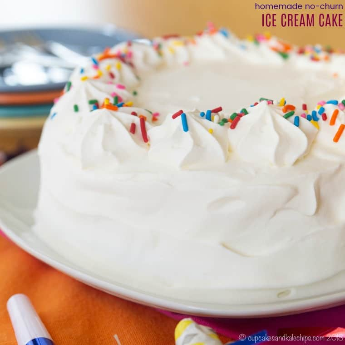 Easy Homemade Ice Cream Cake Recipe - Cupcakes & Kale Chips