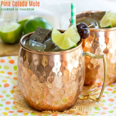 Pina Colada Mule Cocktail and Mocktail