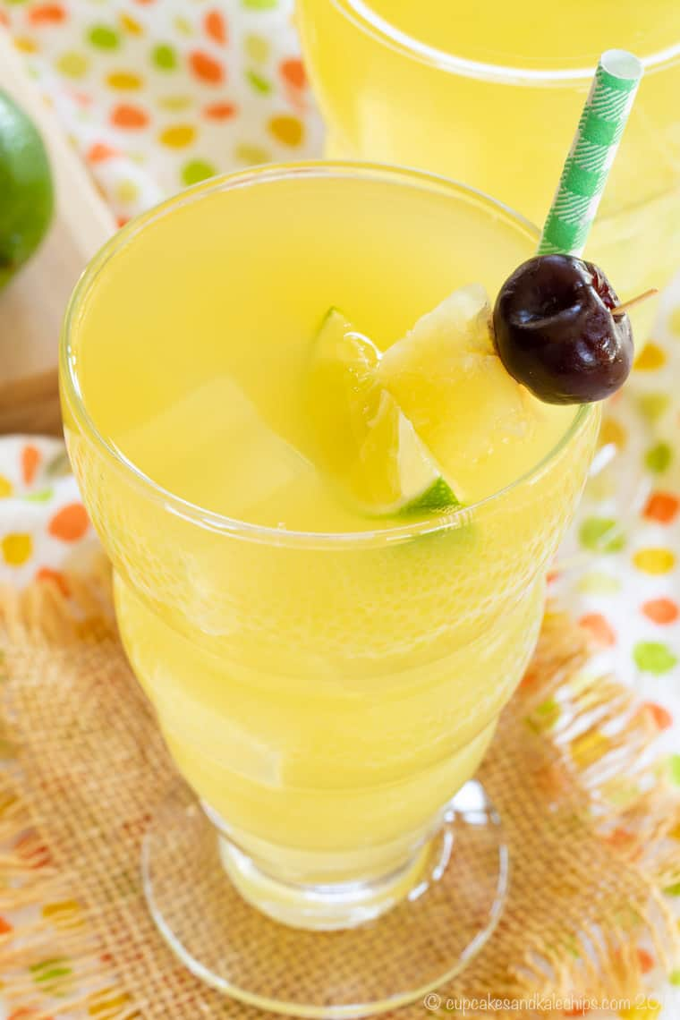 Pina Colada Mule Recipe for a Mocktail in a glass