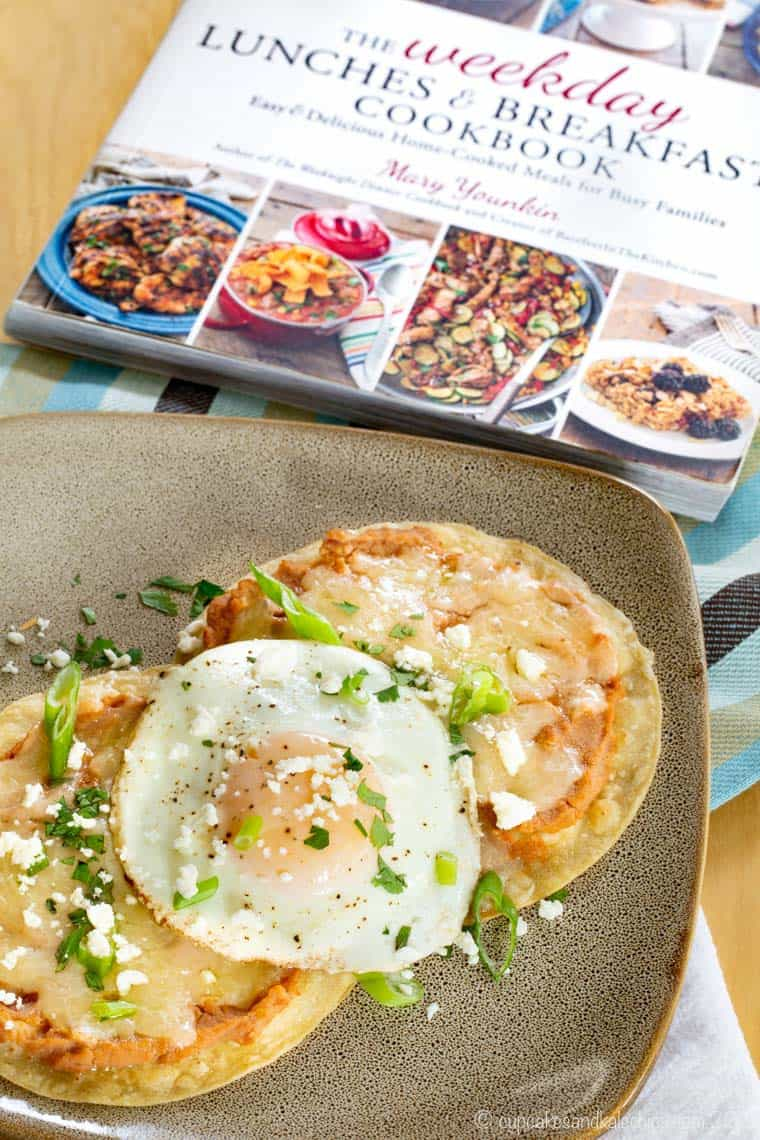 Breakfast Tostada Stacks from The Weekday Lunches and Breakfasts Cookbook
