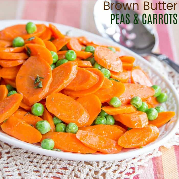 Brown Buttered Peas and Carrots