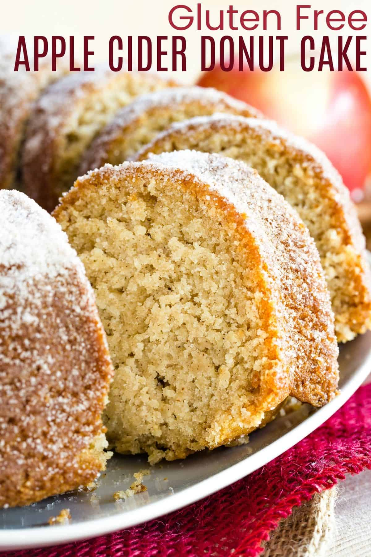 Gluten Free Apple Cider Donut Cake Recipe