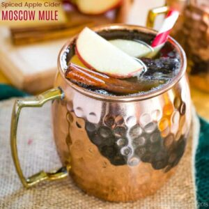 Spiced Apple Cider Moscow Mule Cocktail