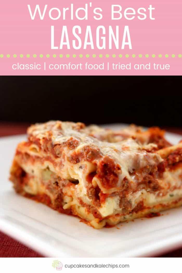 World's Best Lasagna Pin Template Pink