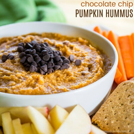 Pumpkin Hummus with Chocolate Chips