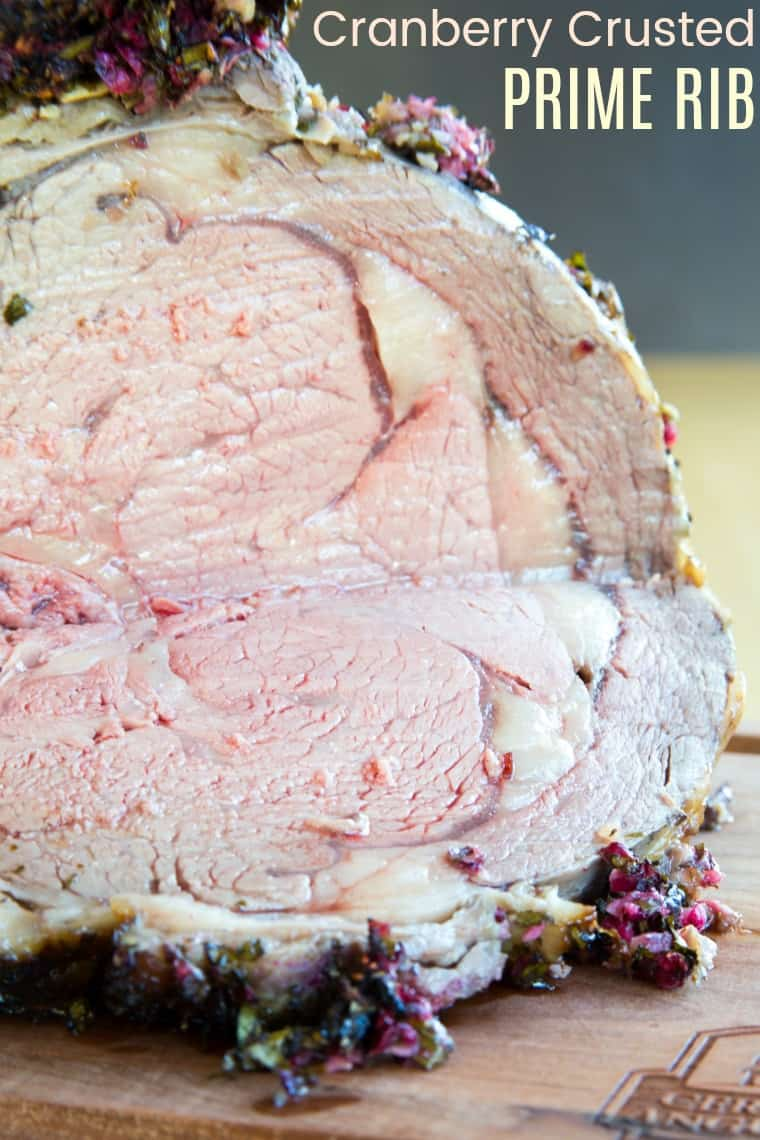 Cranberry Crusted Prime Rib Roast Recipe