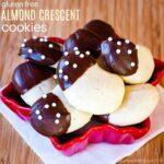 Gluten Free Almond Crescent Cookies