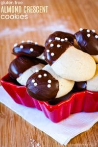 Gluten Free Almond Crescent Cookies Recipe