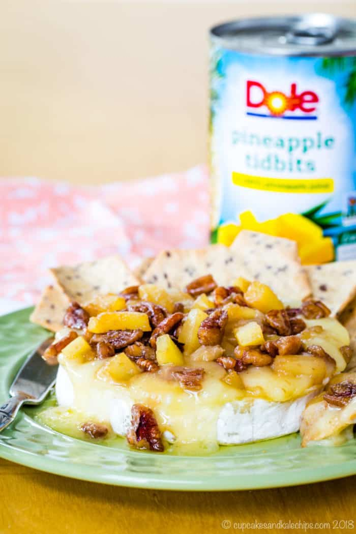 Pineapple Pecan Baked Brie Recipe for Dole Pineapple Tidbits