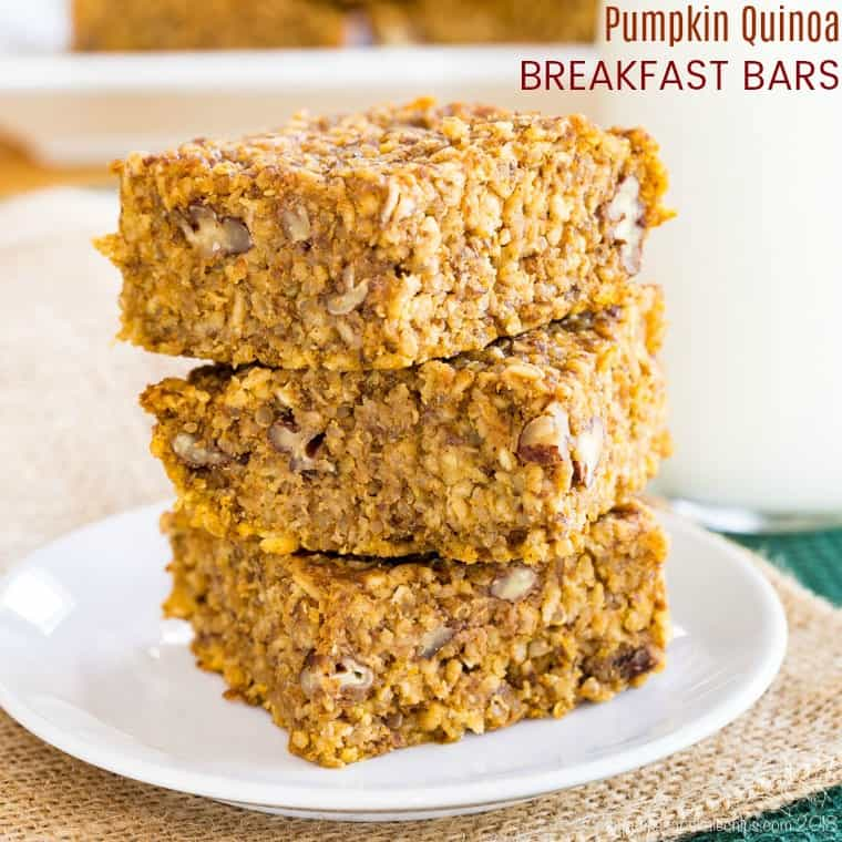 Pumpkin Quinoa Breakfast Bars