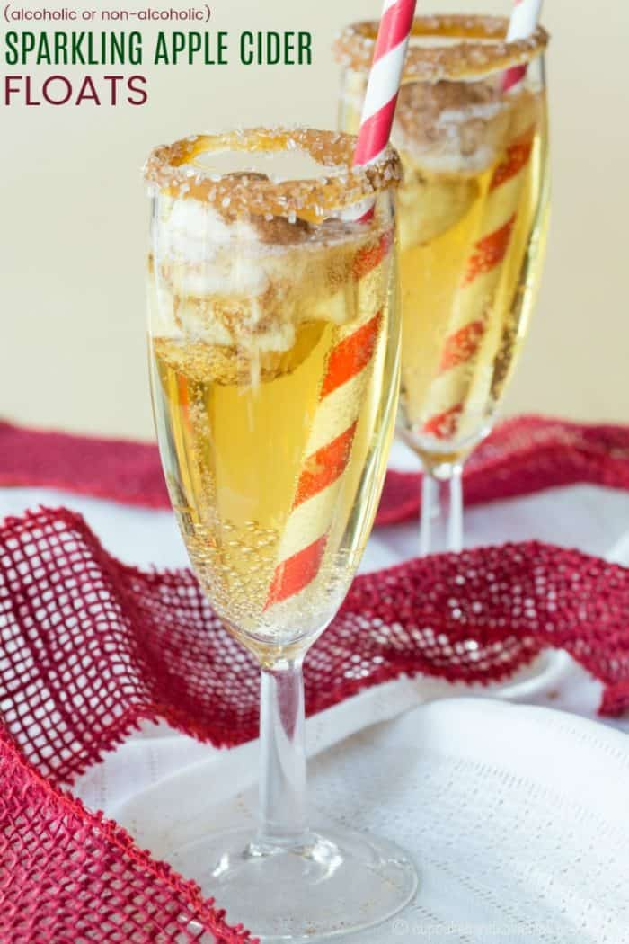 Sparkling Apple Cider Floats Recipe