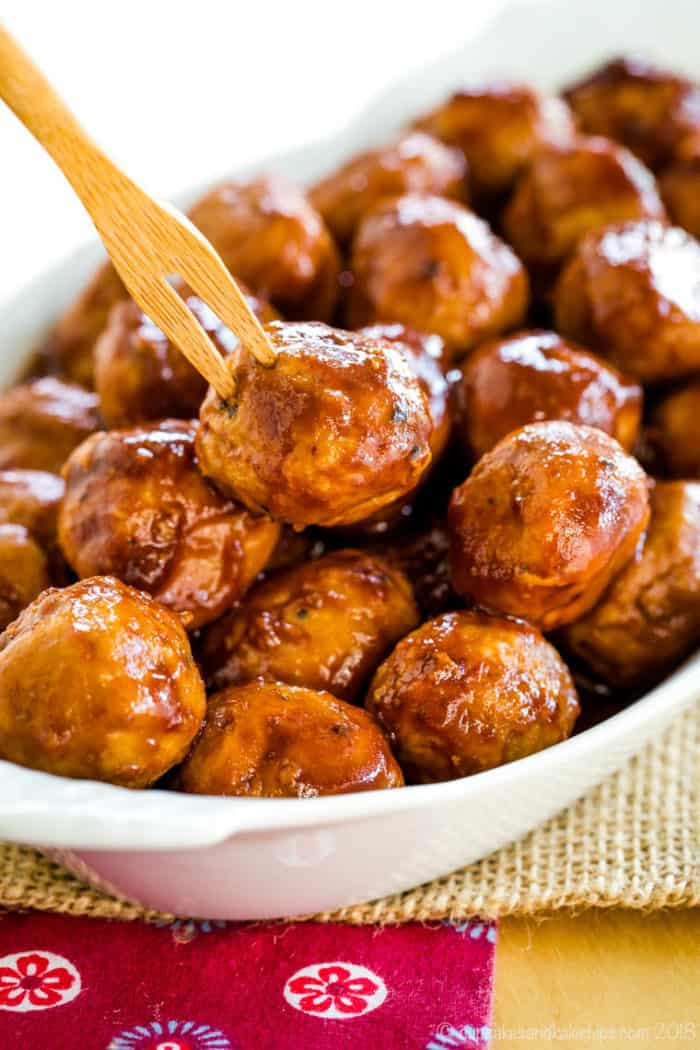 Apple Cider BBQ Turkey Meatballs are one of the best gluten free appetizer recipes