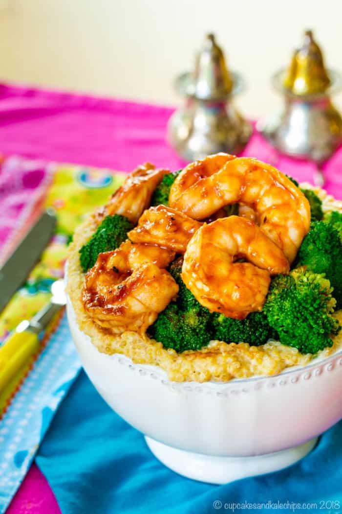 BBQ Shrimp Quinoa Bowls