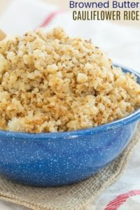 Browned Butter Cauliflower Rice Recipe