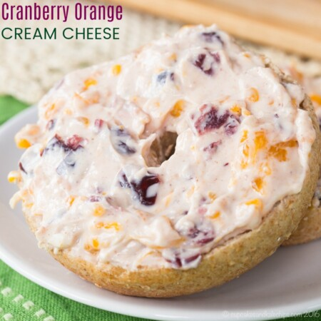 Cranberry Orange Cream Cheese Dip or Spread