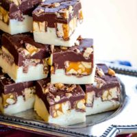 Double Chocolate Snickers Fudge