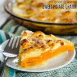 Goat Cheese Sweet Potato Gratin