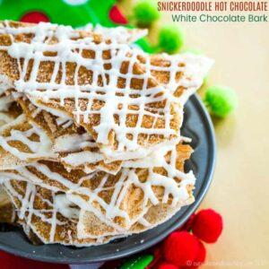 Snickerdoodle Hot Chocolate White Chocolate Bark