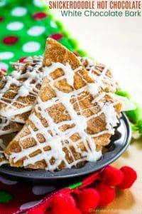 Snickerdoodle Hot Chocolate White Chocolate Bark Recipe