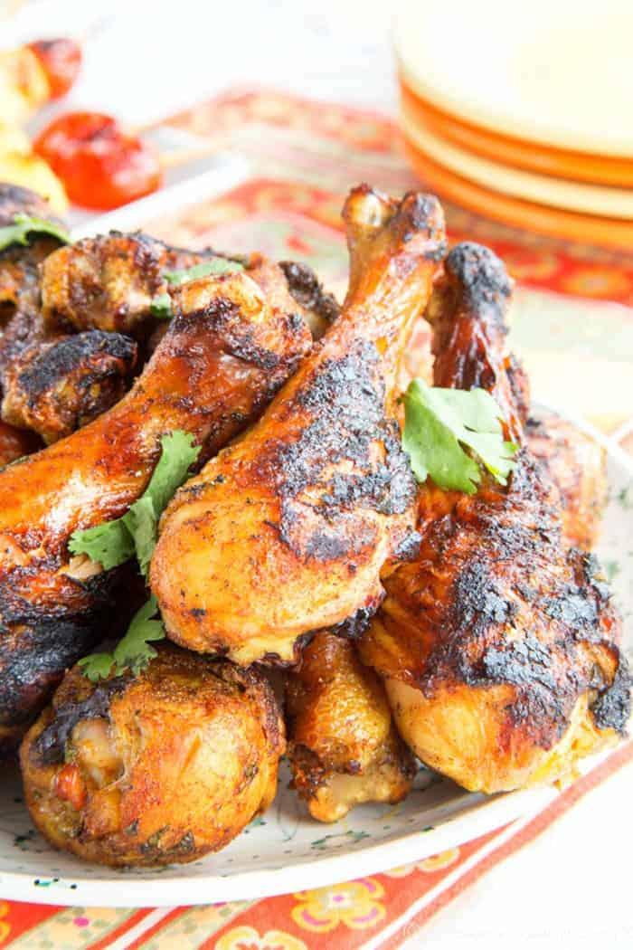Baked or Grilled Tandoori Chicken Legs