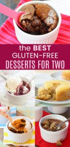 The Best Gluten Free Dessert for Two Recipes collage