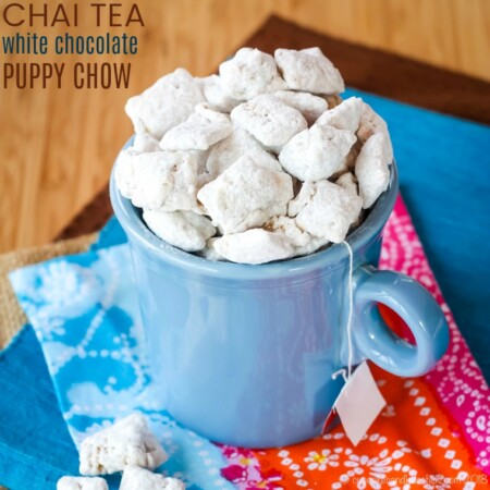 Chai Tea White Chocolate Puppy Chow recipe image