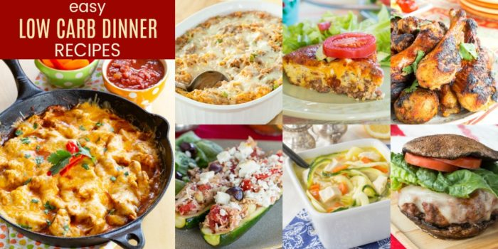 Easy Low Carb Dinner Recipes