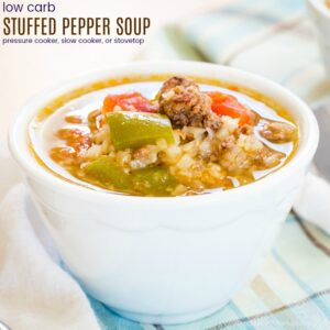 Low Carb Stuffed Pepper Soup
