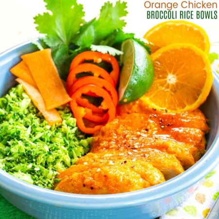 Orange Chicken Broccoli Rice Bowls