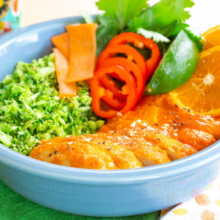 Healthy Orange Chicken and Broccoli Rice Bowls