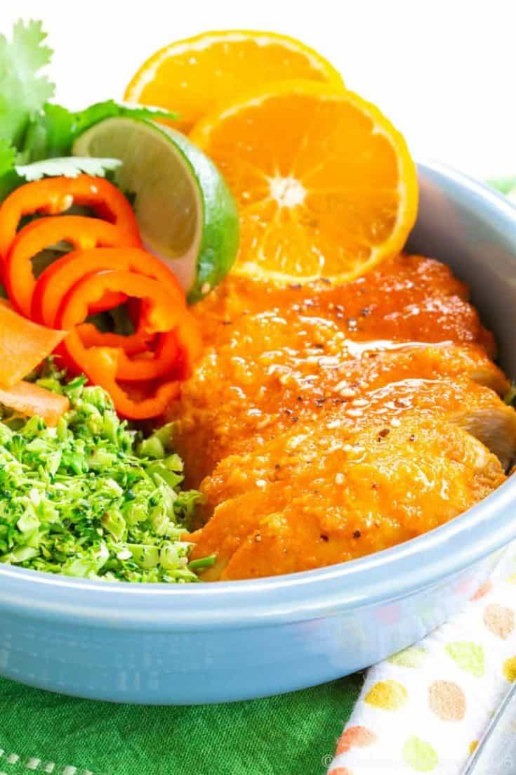 Orange Chicken Broccoli Rice Bowls