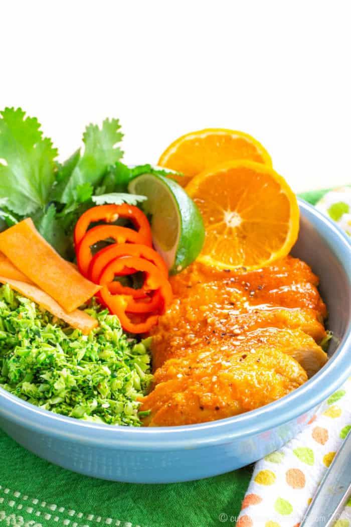 Orange Chicken and Broccoli Rice Bowls Recipe