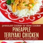 Pineapple Teriyaki Chicken Pin collage