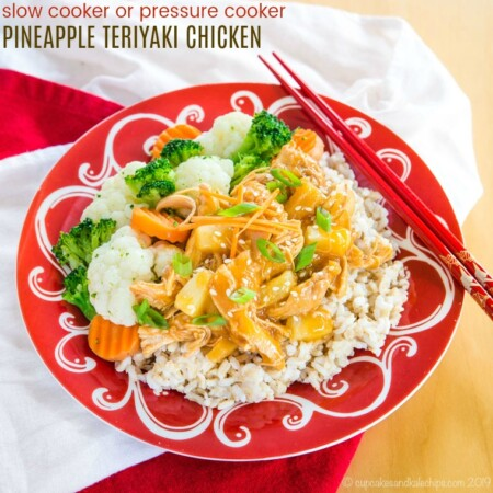 Pressure Cooker Pineapple Teriyaki Chicken with slow cooker directions