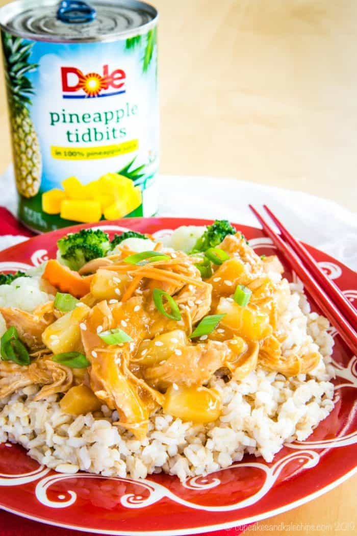 Instant Pot Teriyaki Chicken made with Dole Pineapple Tidbits