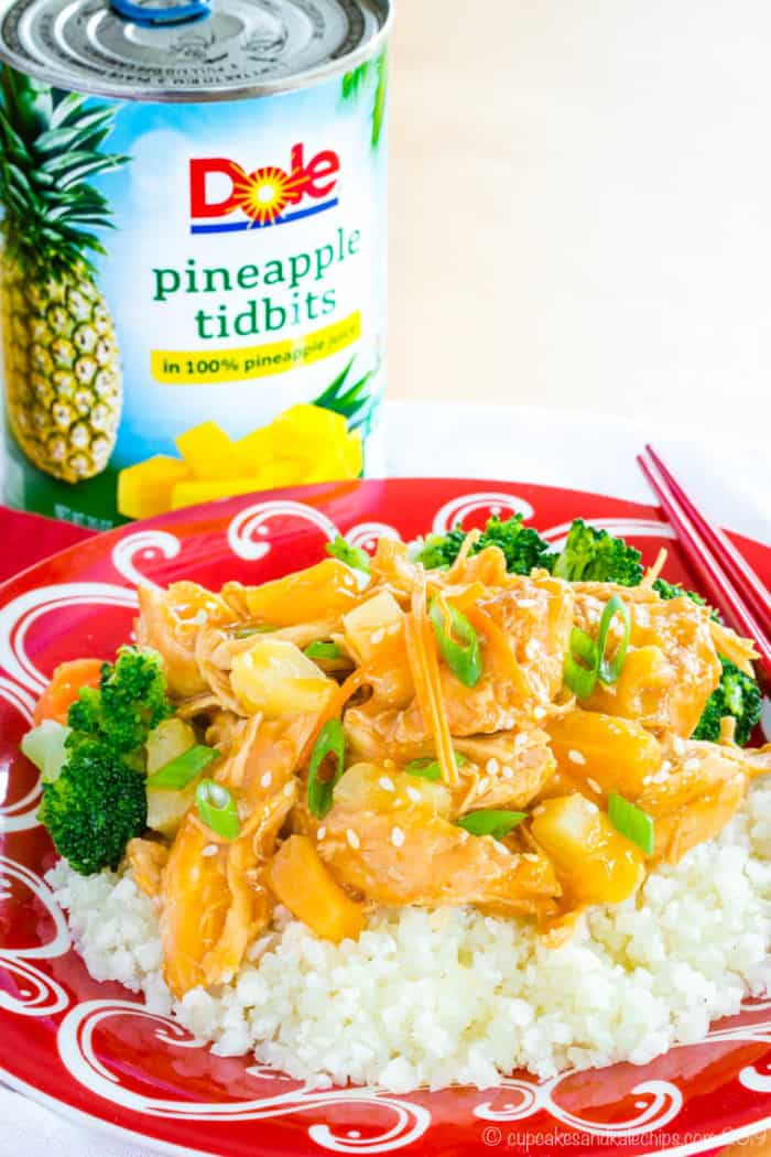 Crockpot Teriyaki Chicken made with Dole Pineapple Tidbits