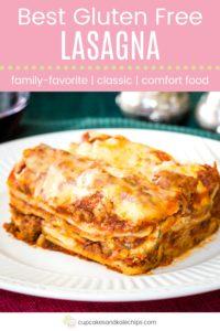 Best Gluten Free Lasagna Pin Template Pink