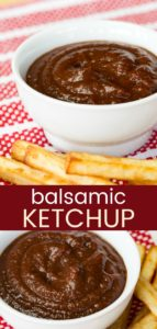 Balsamic Ketchup Pinterest Collage