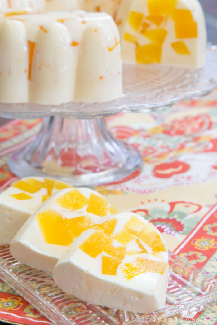 slices of Orange Creamsicle Jello ice cream dessert