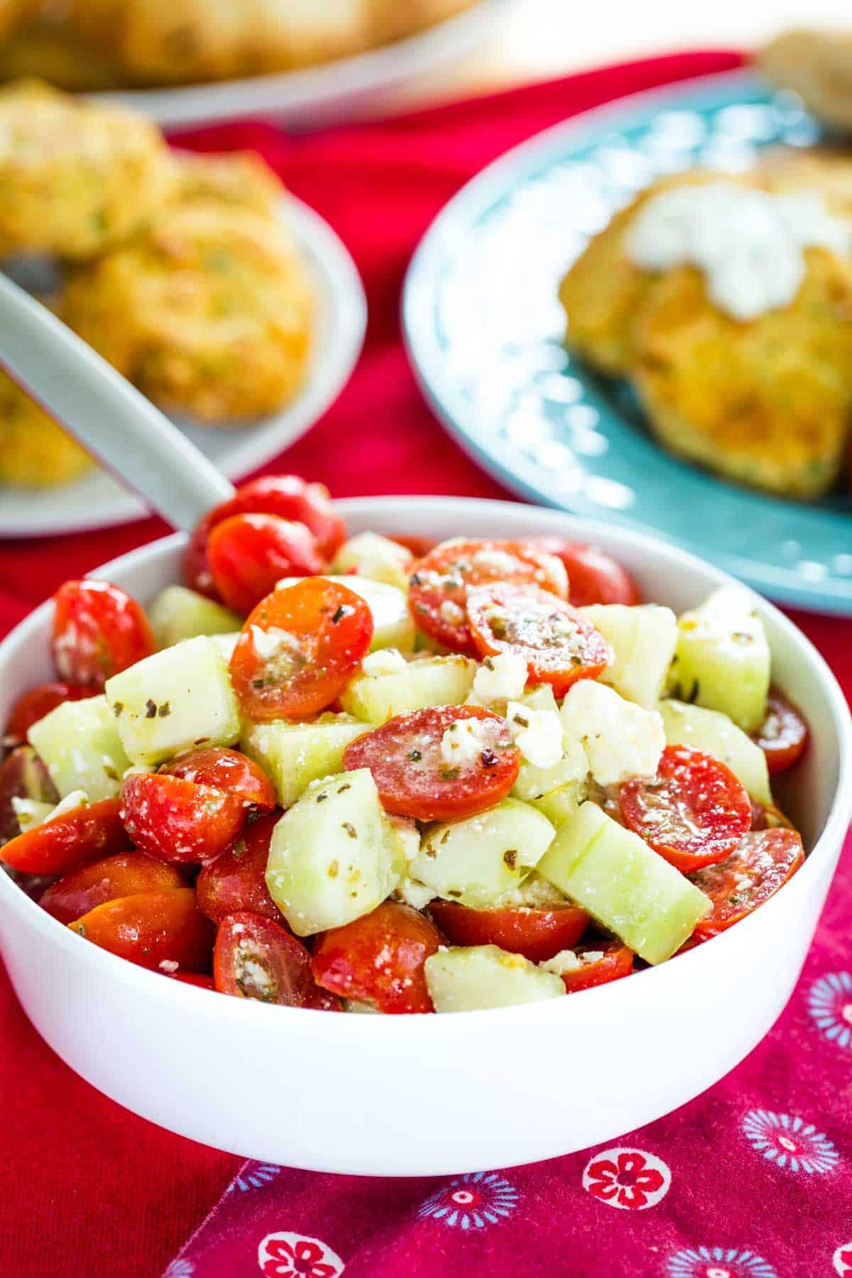 Cucumber Tomato Feta Salad recipe