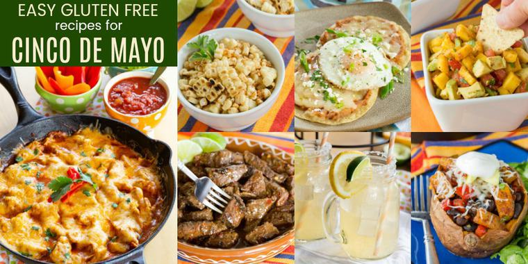 Horizontal collage of Easy Gluten Free Cinco de Mayo Recipes