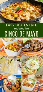 Vertical collage of Easy Gluten Free Recipes for Cinco de Mayo