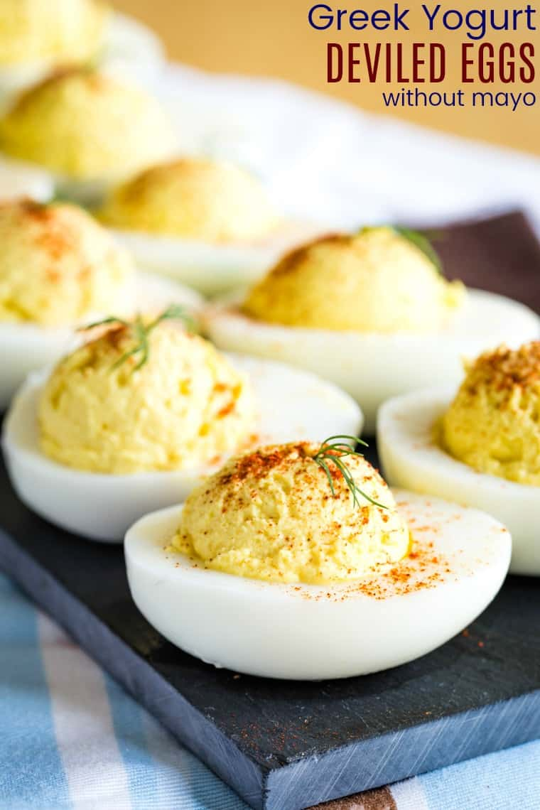 Greek Yogurt Deviled Eggs Recipe Made without Mayo