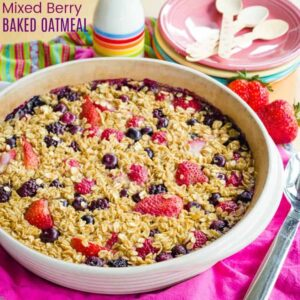 Mixed Berry Baked Oatmeal Recipe