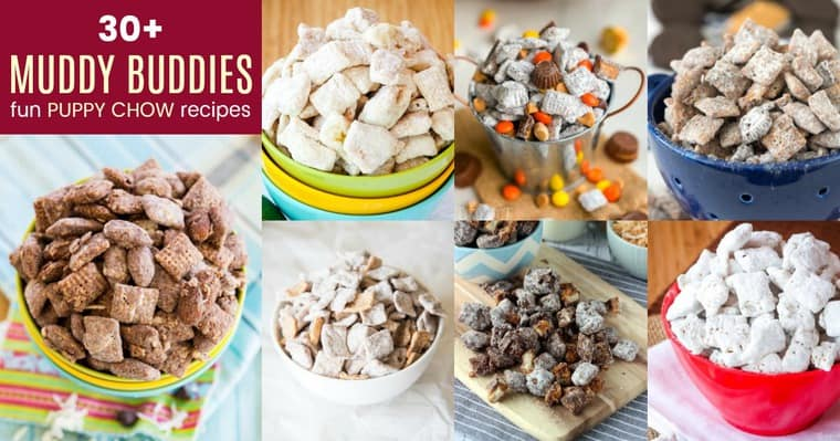 Horizontal Collage of Muddy Buddies Recipes
